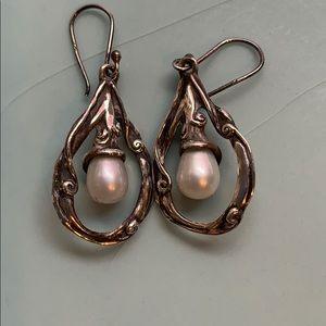 Hagit Gorali silver and pearl earrings